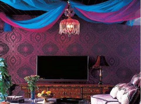 欧式客厅电视背景墙 80后的diy