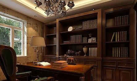 欧式书房装修 让你享受美式生活