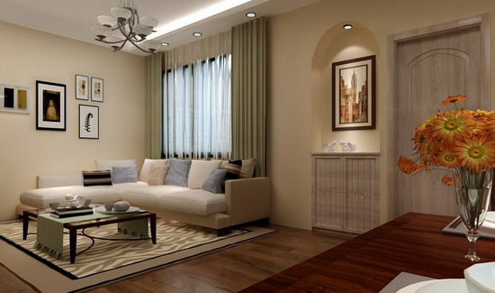 小户型客厅装修效果图 2013贴切的升华