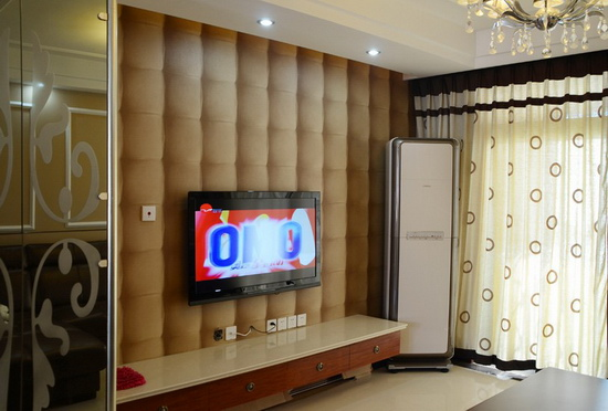 欧式客厅电视背景墙 做自己的主人