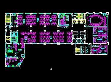 办公室空间设计平面图免费下载