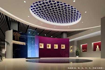 室内设计文化节客厅组图:四川博物馆(作品)一进门是金奖的设计图图片