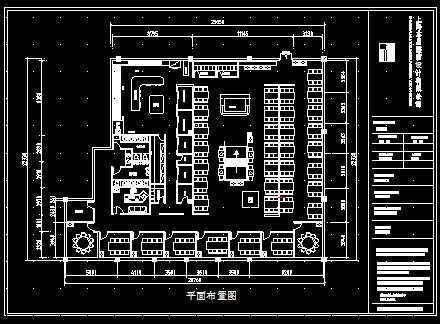 火锅店的装修图纸cad图纸轨道槽型方案图片