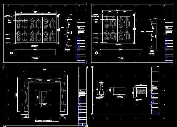 儿童服装店装修图免费下载 - 装修图纸 - 土木工程网