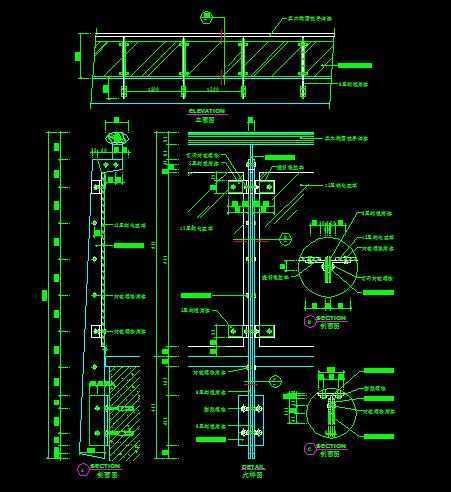 楼梯与栏杆施工节点图