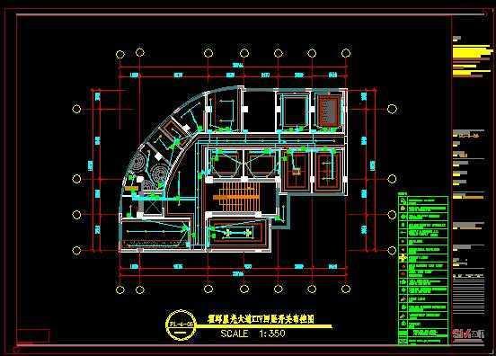 ktv装修—地面铺装,电路面图