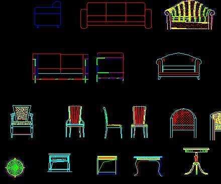 欧式家具立面图