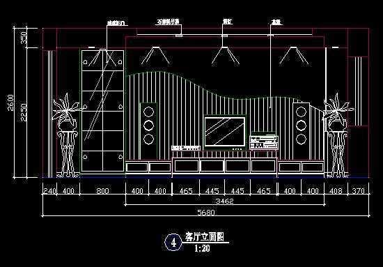 蝙蝠图纸墙CAD图免费下载电视大衣袖背景图片