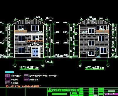 农村小型别墅施工图