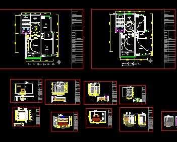 某两室两厅住宅装修图免费下载 装修图纸 高清图片