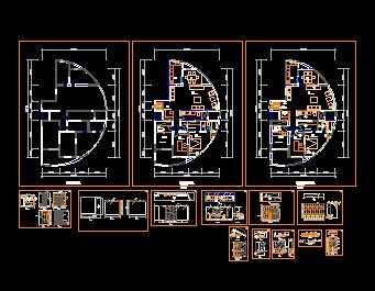 别致弧形居室装修设计图