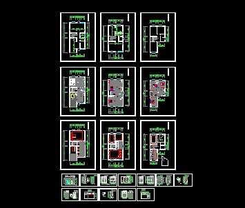 某三层别墅室内装修设计图