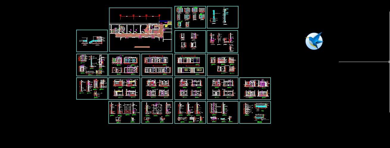 ktv包房装修设计图免费下载 - 装修图纸 - 土木工程网图片