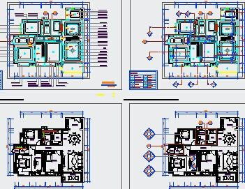 住宅室内装修设计图纸免费下载