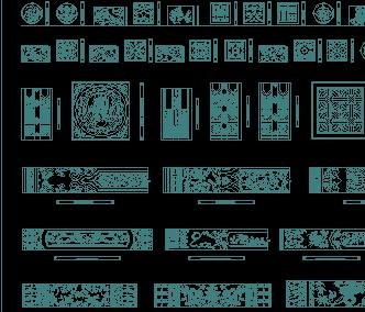 中式雕花花格木详图