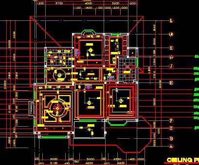 红色调欧式二层别墅装修施工图纸(附效果图)