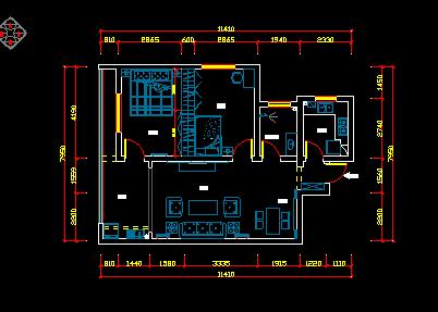 两居室时代装修设计图纸免费下载住宅怎么获得小图纸图片