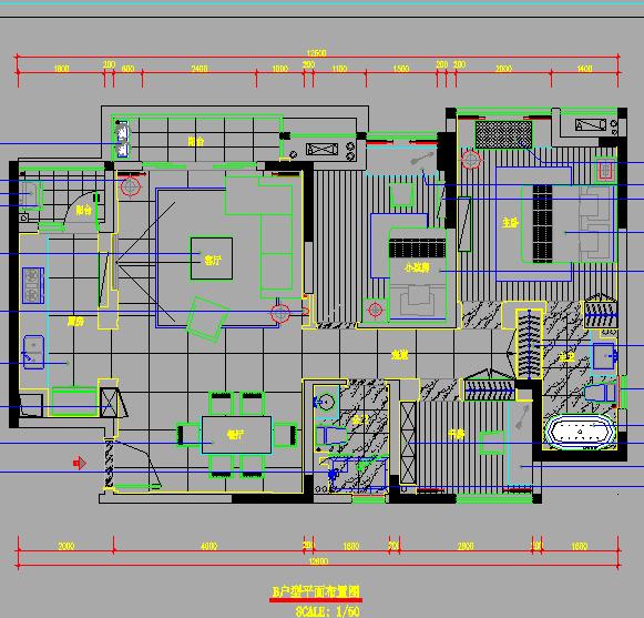 某小区样板房装修及水电设计图纸