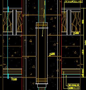 大堂石材柱装修详图