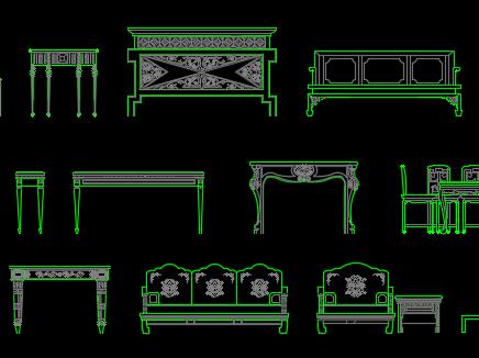 CAD中式家具图库